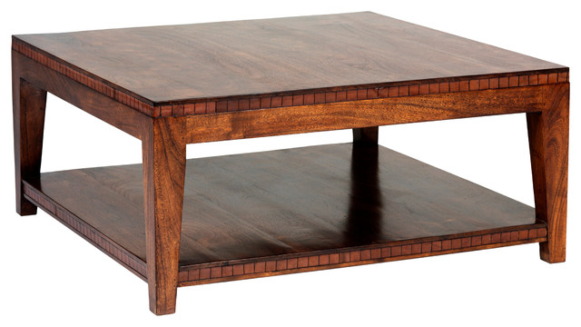 Saddler Square Coffee Table Traditional Coffee Tables by