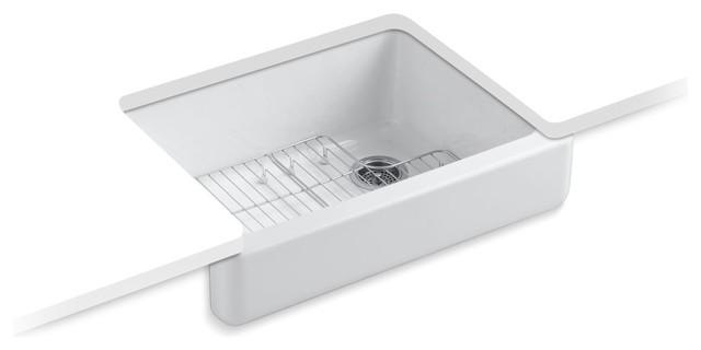 "Kohler Whitehaven Self-Trimming 1-Bowl Kitchen Sink, 29-1/2""x21-9/16""x9.63"""
