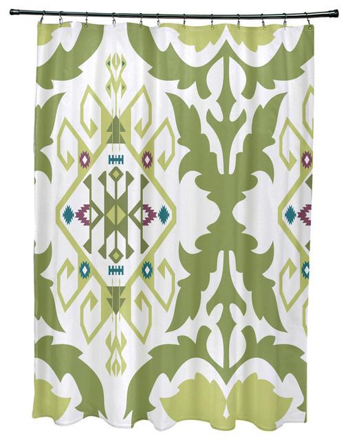 71x74 Bombay Medallion Geometric Print Shower Curtain Southwestern Shower Curtains By E