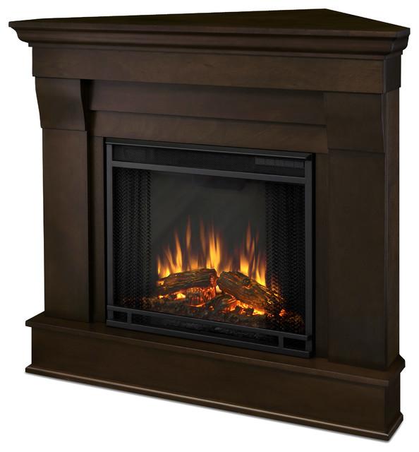 Chateau Corner Electric White Fireplace - Traditional ...
