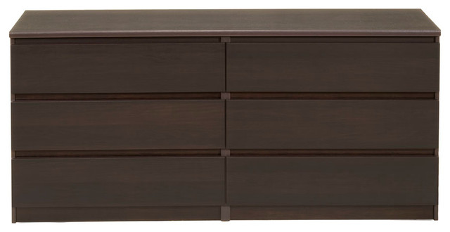 Scottsdale 6-Drawer Double Dresser, Coffee.