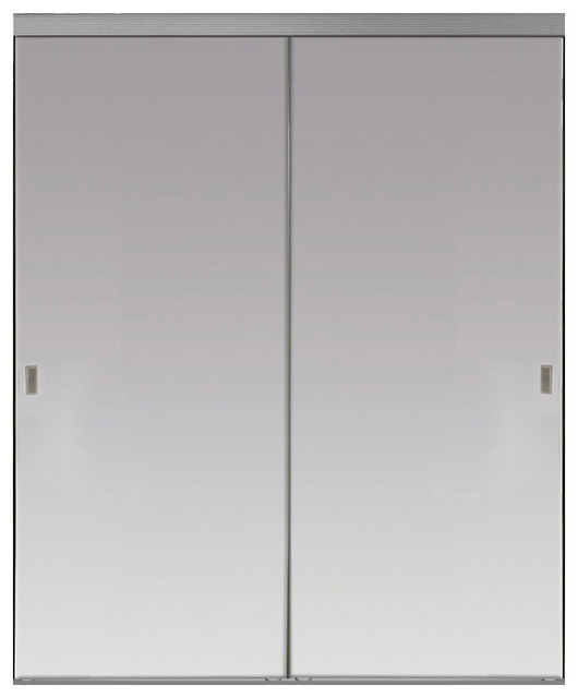 Silver Lake Sliding Mirror Doors Beveled Edge Contemporary