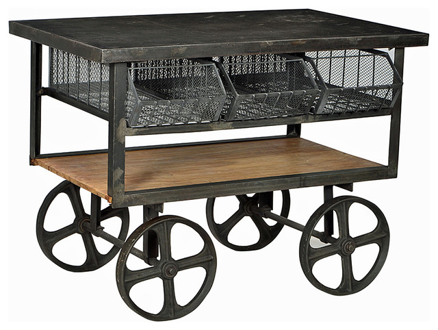 Industrial Cart Industrial Bar Carts By Design Mix