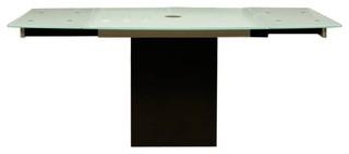 Star International Ritz Quadrato Extension Dining Table, Black Granite Base I