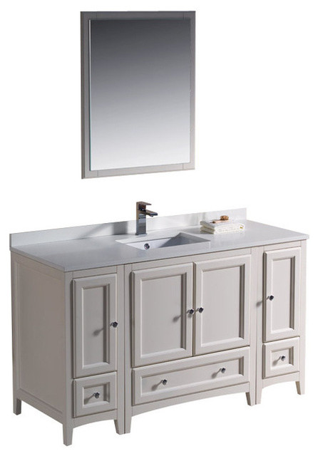 54 inch single sink bathroom vanity traditional bathroom vanities and sink consoles by for Single sink consoles bathroom