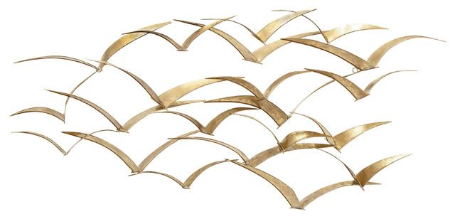 Bird Metal Wall Art beautiful patterned metal flocking birds decorative - contemporary