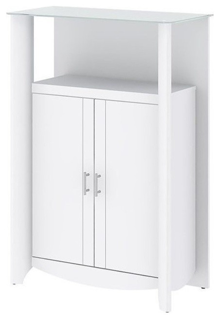 Pemberly Row 2-Door Medium Library Storage, Pure White