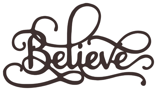 Metal Cutout Believe Decorative Wall Sign 3d Word Art By Lavish Home Contemporary Metal Wall Art By Trademark Global