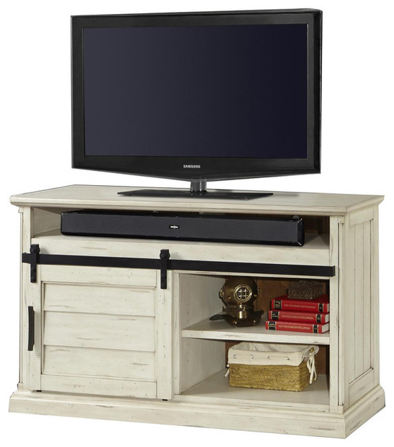 Parker House Chesapeake 55 Tv Console Vintage Burnished Rustic White