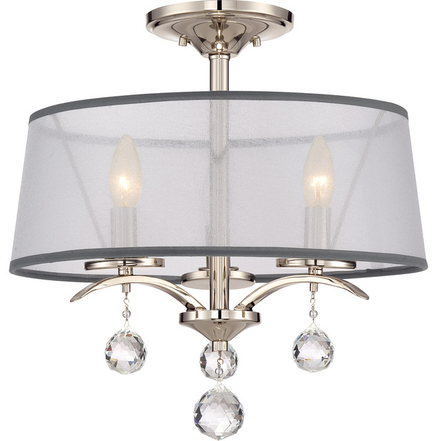 Quoizel Whitney Semi-Flush Mount, Imperial Silver.