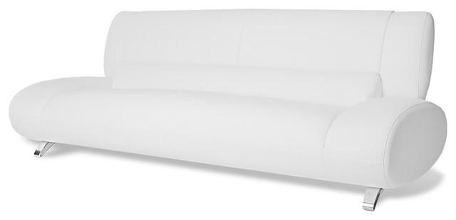 Aspen Microfiber Leather Sofa Contemporary Sofas By