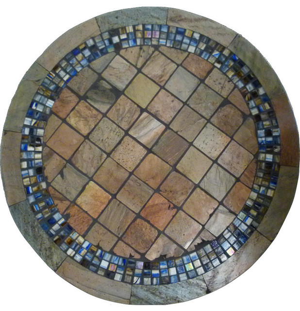 Shop Houzz PebbleArt Colorado Mosaic Stone Round Bistro