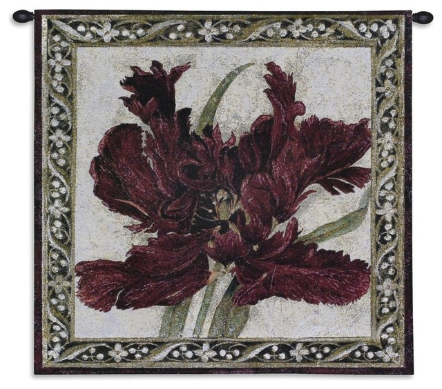 Fire Red Tulip Wall Tapestry - Traditional - Tapestries ...