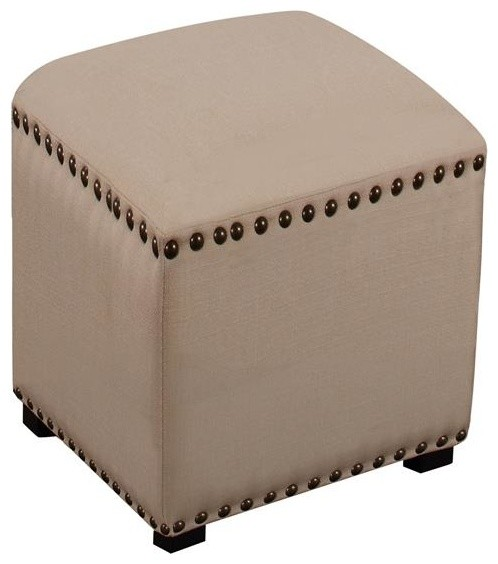 Evie Backless Vanity Stool Transitional Vanity Stools