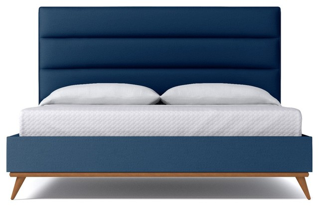 Cooper Upholstered Bed, Blueberry, Eastern King.