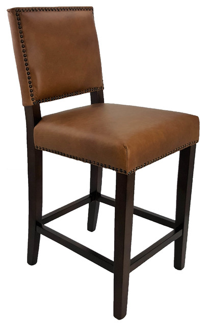 Artefac Top Grain Leather Counter Stool Bar Stools And