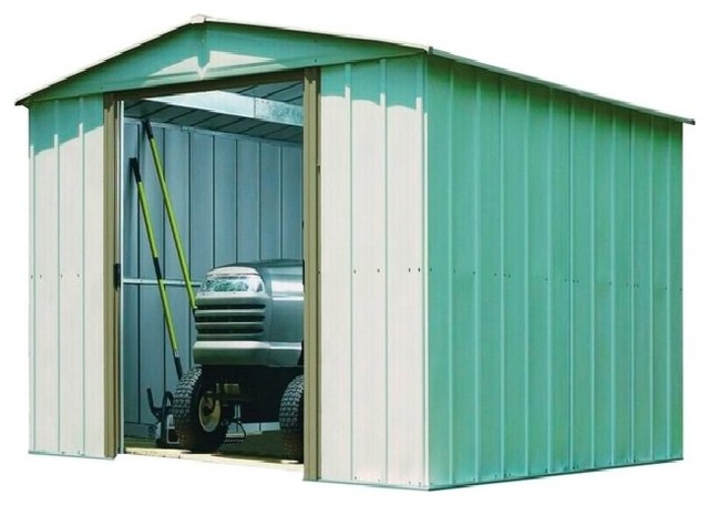 Arrow Galvanized Steel Storage Shed, 10&x27;x10&x27;.