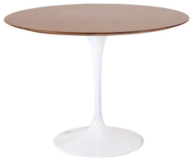 Fine Mod Imports  Flower Table Wood Top 48, Walnut by TRIBECA DECOR