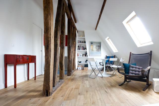 Appartement Paris Ii Contemporary Living Room Paris By Yves Mahieu Spoutnik Architecture