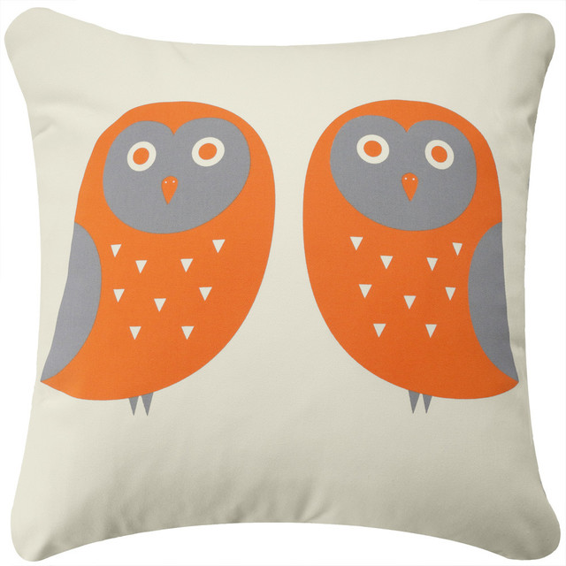 throw pillows for couch amazon cheap decorative owl drative pillow orange gray cream without insert contemporary accent living room