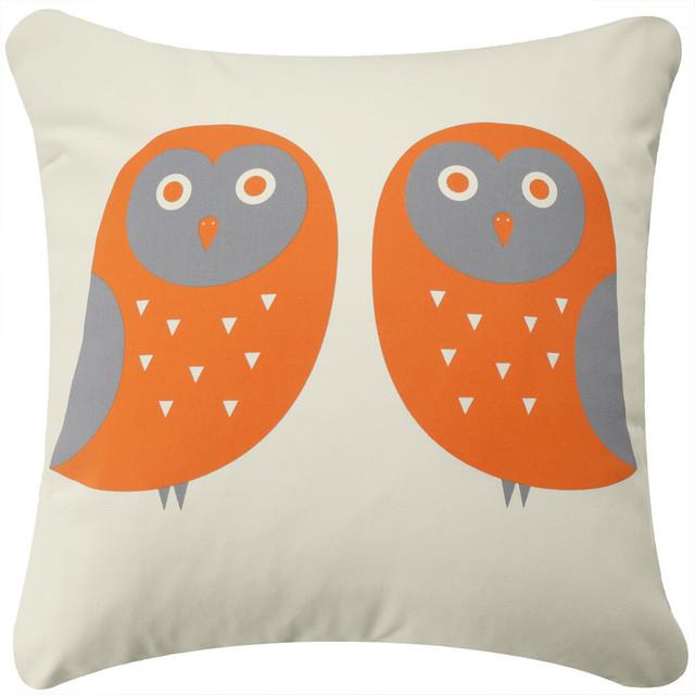 Owl Eco Decorative Throw Pillow Cover Contemporary Decorative Pillows By Wabisabi Green