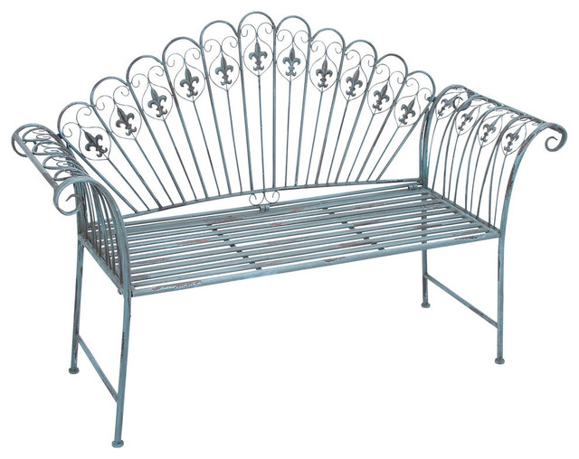 Metal Bench Modern Outdoor Benches by Brimfield May – Outdoor Iron Bench
