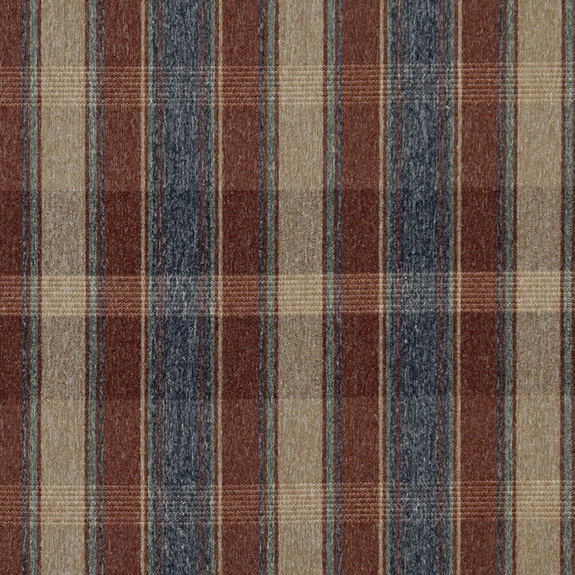Red Blue Green And Beige Large Plaid Country Tweed