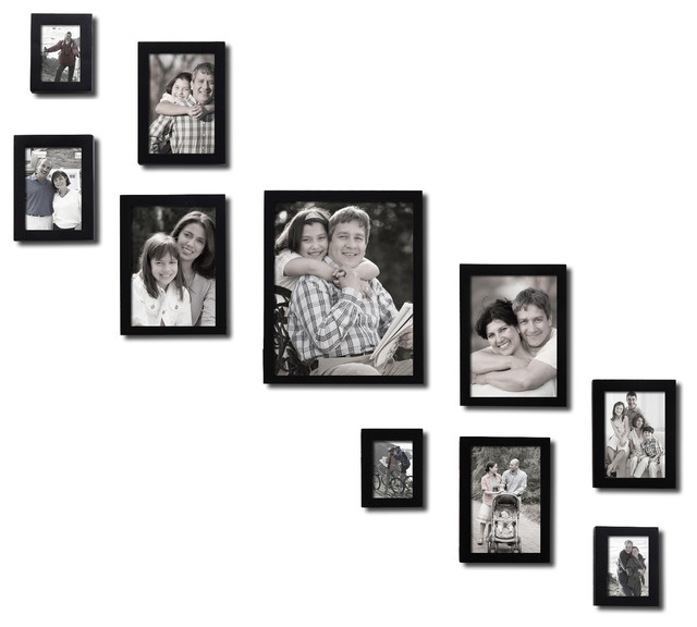 Adeco 10 Piece Collage Picture Frame Contemporary Picture Frames