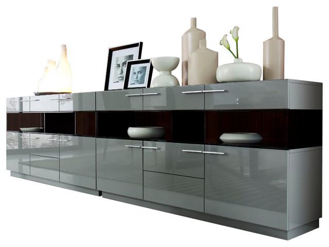 daytona modern grey gloss buffet modern buffets and sideboards rh houzz com