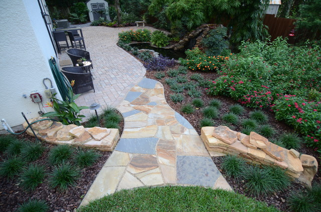Natural Stone Dry Stack Retaining Walls With Dry Laid Stone