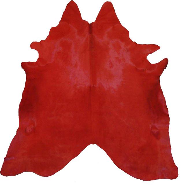 pergamino cowhide rug red