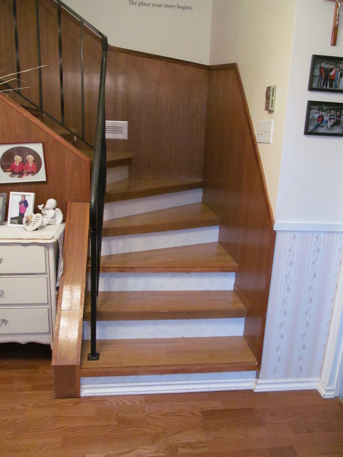 Need Help Updating Staircase Wood Panelling Dilemma Leave As Is Or