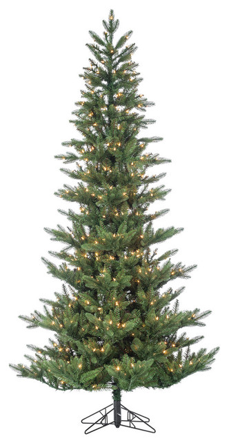 7.5' High Pre-Lit Natural Cut Austrian Pine Tree With Warm White LED Lights