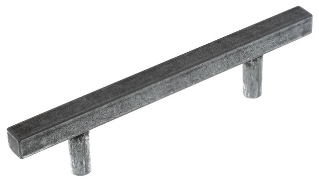 Zio Antique Iron Bar Drawer Handles, Set of 2, Small