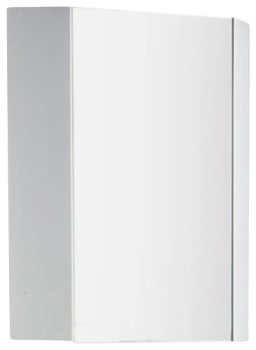 Coda 18 White Corner Medicine Cabinet