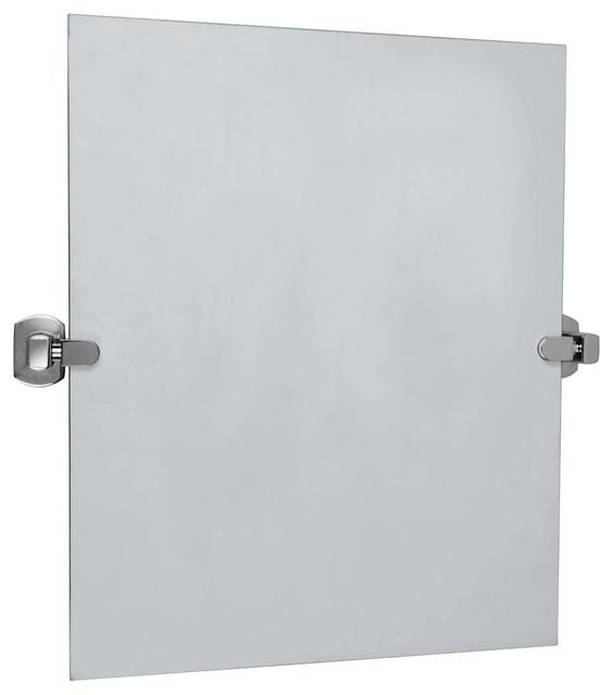Millbridge Pivot Mirror Chrome Transitional Bathroom