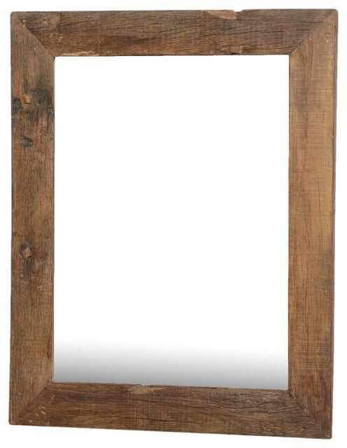 Alachian Rustic Large Reclaimed Wood Wall Mirror W Simple Frame