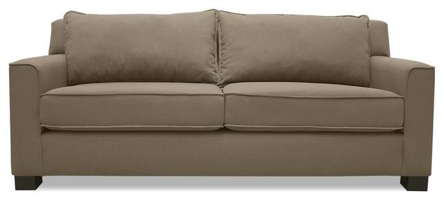 "South Cone Home Lindor Linen Sofa, Brown, 72""."