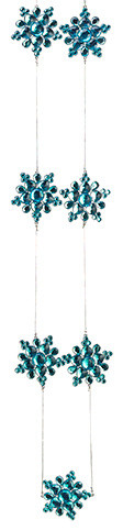 Silk Plants Direct Snowflake Garland, Pack Of 6.