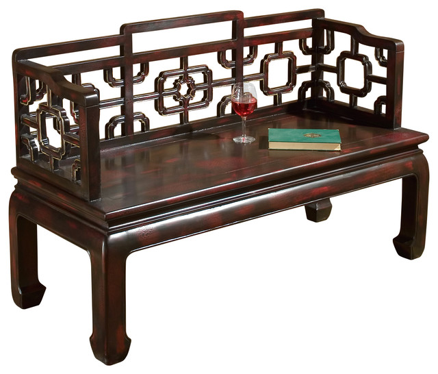 Butler Specialty Company Butler Daiyu Chinese Chippendale Bench Accent And Storage Benches Houzz