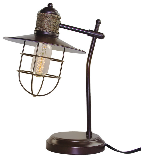 LNC Vill Cage Rope Table Lamp