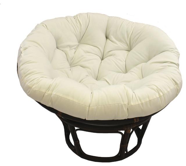 44 Solid Twill Papasan Cushion, Fits 42 Papasan Frame, Off White.