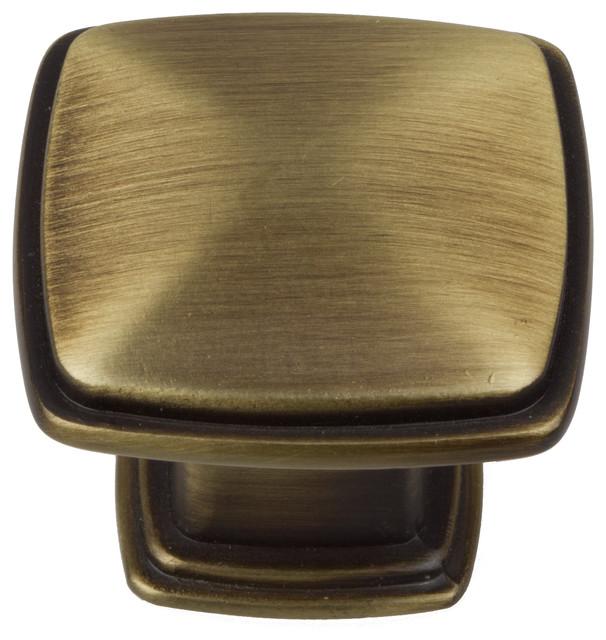 GlideRite Square Deco Cabinet Knob - Transitional - Cabinet And ...
