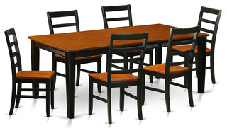 sc 1 st  Buying Guide & Dane Dining Table Set Black and Cherry 7 Pieces Wood