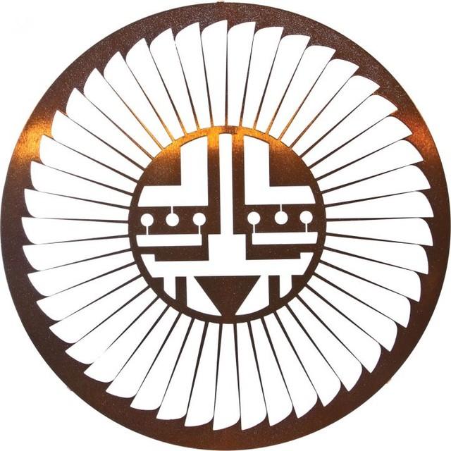 Southwest Native American Metal Wall Art Kachina Sun 24