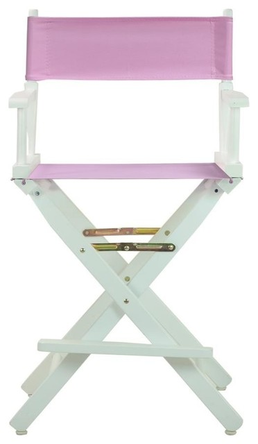 Pleasing 24 Directors Chair White Frame Pink Canvas Squirreltailoven Fun Painted Chair Ideas Images Squirreltailovenorg