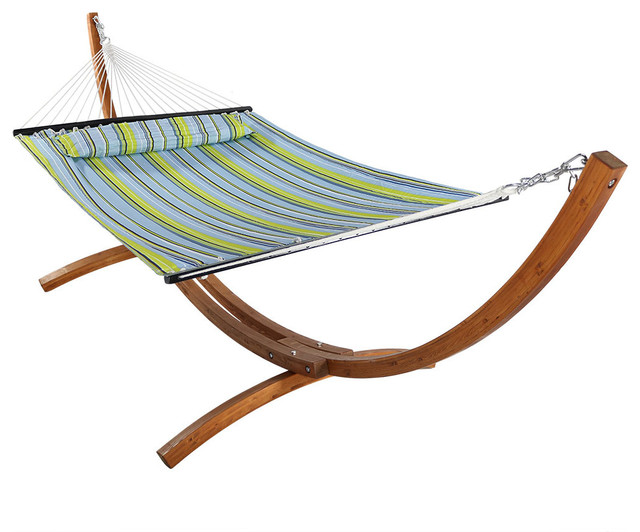 Wooden Curved Arc Hammock Stand Set Contemporary Hammocks And