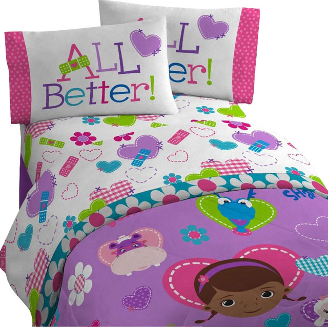 Disney Doc Mcstuffins Twin Bedding Set Animal Friends Contemporary Kids Bedding By Obedding