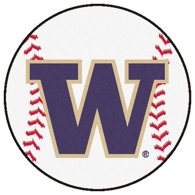 Baseball Rug: Washington Huskies Grand Slam Baseball Area Rug