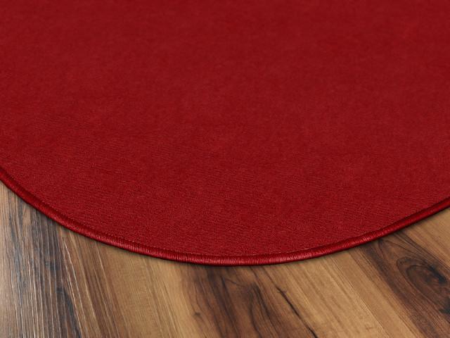 Americolors Round Rowdy Red Rug, 12&x27; Round.